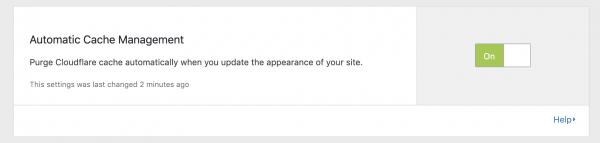 スクリーンショット『WordPressのCloudflareプラグイン』